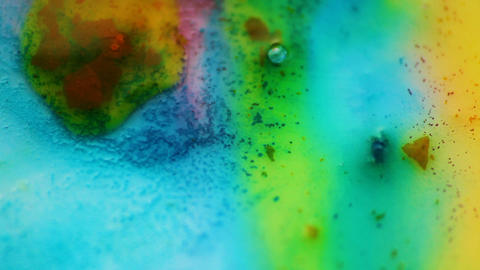 Abstract colorful flow with small texture. Watercolor color mix together Live Action