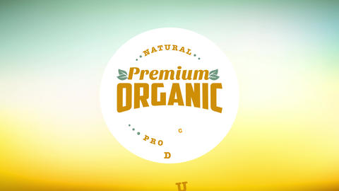 healthy eco kind product concept design built with a round with classic script on it over a soft Animation