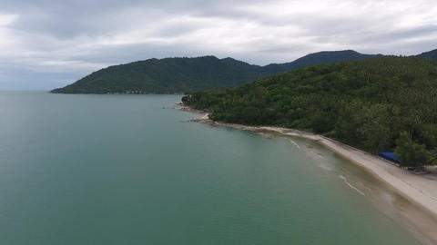 High angle view of the Thai coast Live Action