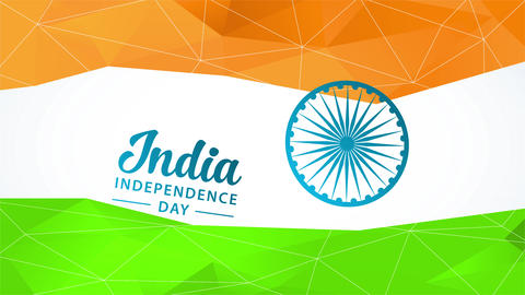 india national independence day holiday celebration concept art designed with the colors of the flag Animation