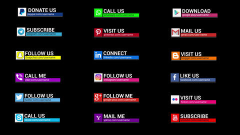 Social Media Lower Thirds 2 0 Motion Graphics Template