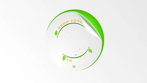 art concept graphic for healthy natural aliment good designed with different offset forming rounded Animation