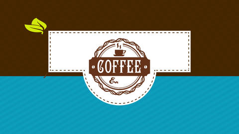 coffee packaging design with western typography and folding parts with dotted lines as guides and a Animation