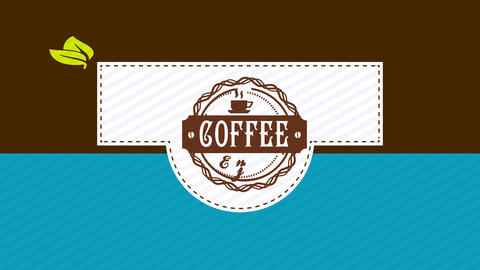 coffee boxing design with western offset and folding elements with splattered lines as guides and a Animation