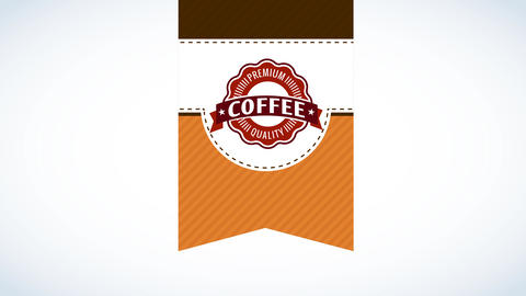 coffee package graphic art combining three layers with different designs and a curly circle Animation