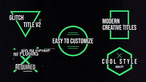 Glitch Titles V2 Motion Graphics Template