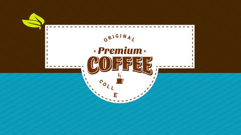 coffee packaging design divided in three sections with stripe details and dotted lines in the center Animation