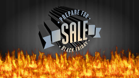 big demand sale event graphic designed with 3d iron letters with striking typography creating a Animation