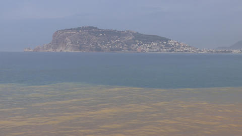 View on Bedesten Alanya from beach Live Action
