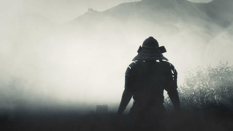 Samurai Bushido Warrior Standing in the Mist Live Action