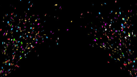 4K Celebration Confetti with Alpha Matte Channel Animation