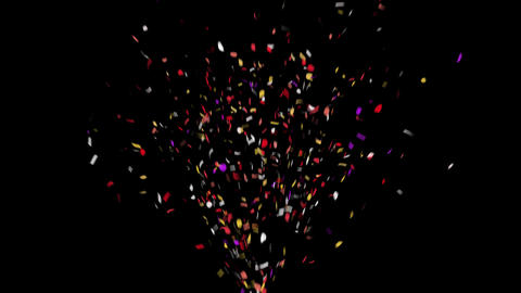 4K Confetti with Alpha Matte Channel Animation
