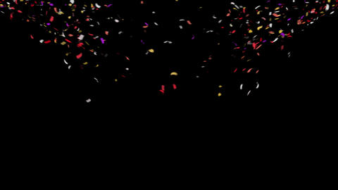 4K Confetti Top Explosion with Alpha Matte Channel Animation