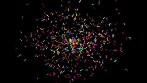 Colorful 4K Confetti with Alpha Matte Channel Animation