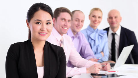 Successful business team Footage