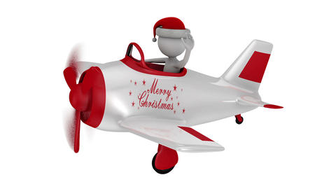 Santa in plane Animation
