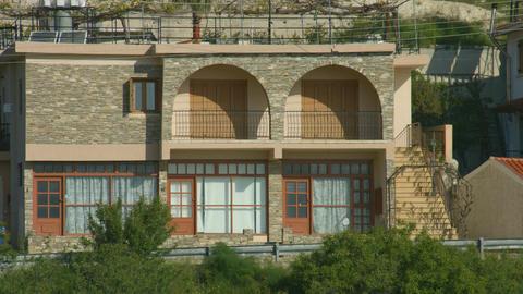Peaceful holiday house at seaside resort. Establishing shot. Tourism, vacation Footage