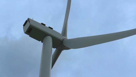 Modern wind turbine mechanism rotating, green power, electricity generation Footage
