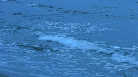 Foamy waves splashing at seashore. Ocean tide. Calm background for meditation Live Action