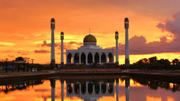 Thailand Mosque at sunset Footage