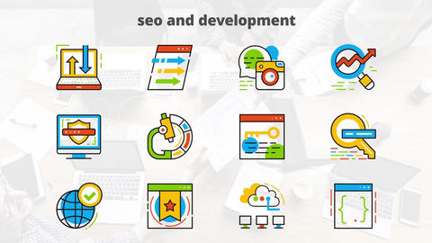 Seo development flat animated After Effects Template