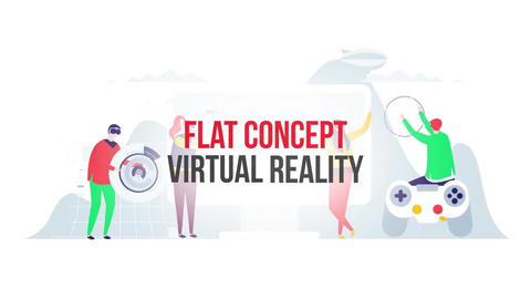 Virtual reality flat concept After Effects Template
