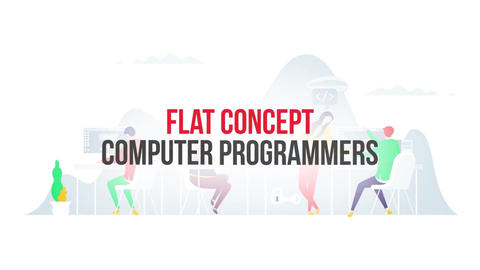 Computer programmers flat concept After Effects Template