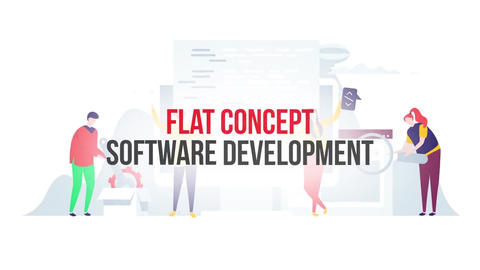 Software development flat concept After Effects Template