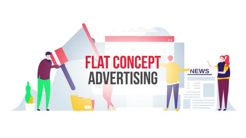 Advertising flat concept After Effects Template