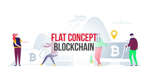 Blockchain flat concept After Effects Template