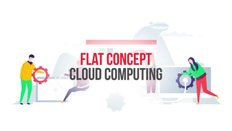 Cloud computing flat concept After Effects Template