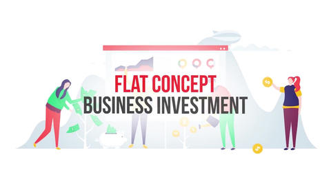 Business investment flat concept After Effects Template