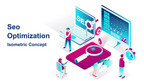 Seo optimization isometric concept After Effects Template
