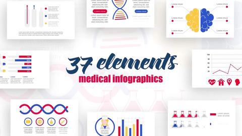 Infographics medicine elements After Effects Template