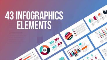 43 infographics elements After Effects Template