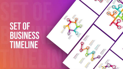Set of business infographics timeline After Effects Template