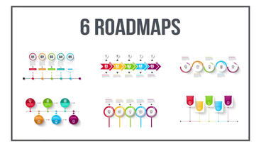 Infographics timeline set five After Effects Template