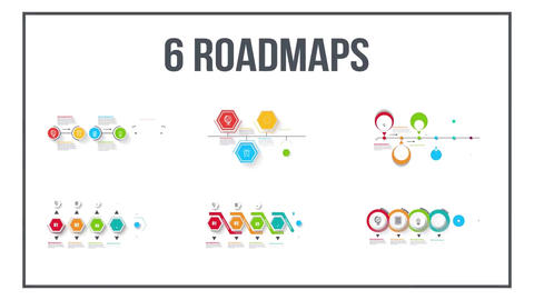 Infographics-timeline-set-four After Effects Template