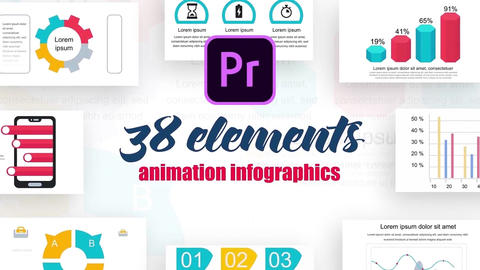 Infographics mogrt vol.7 Motion Graphics Template