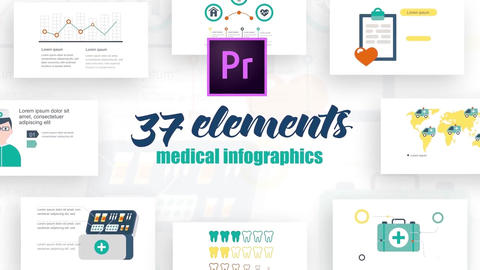 Infographics medicine elements 2 Motion Graphics Template
