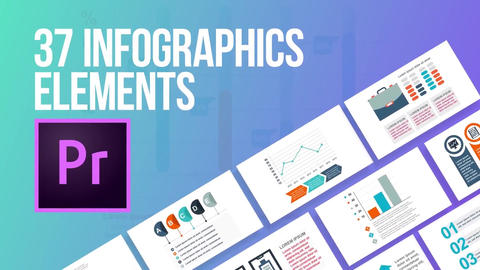 37 infographics elements Motion Graphics Template