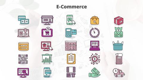 E-commerce mogrt icons Motion Graphics Template