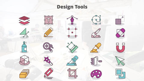Design tools mogrt icons Motion Graphics Template