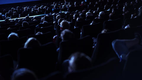Audience in a movie theater - cinema Live Action