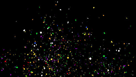 4K Celebrations Confetti with Alpha Matte Channel Animation