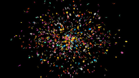 Celebration New Year Confetti with Alpha Matte Channel Animation