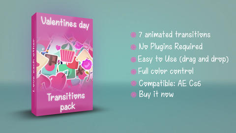 Wedding And Valentines Day Transitions After Effects Template