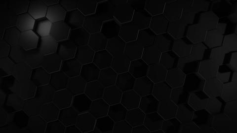 Abstract hexagonal geometric black surface Animation