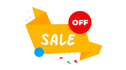 Simple sale sticker on alpha channel. Loop from 4 to 22 second GIF