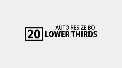 Lower Thirds Auto Resizing Boxed After Effects Template